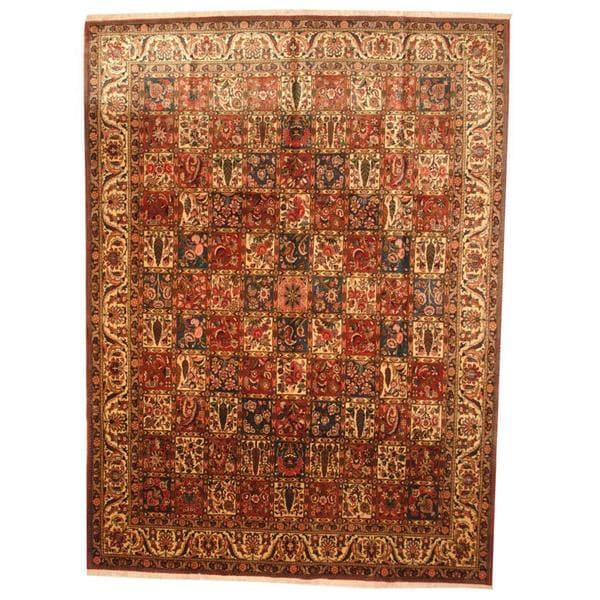 Herat Oriental Persian Hand-knotted 1960s Semi-antique Bakhtiari Wool Rug (9'9 x 13'4) - 9'9 x 13'4
