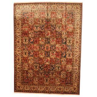 Herat Oriental Persian Hand-knotted 1960s Semi-antique Bakhtiari Wool Rug (9'9 x 13'4)|https://ak1.ostkcdn.com/images/products/8886790/Antique-1960s-Persian-Hand-knotted-Bakhtiari-Rust-Ivory-Wool-Rug-99-x-134-P16109425.jpg?impolicy=medium