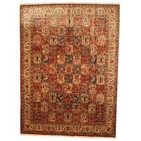 Herat Oriental Persian Hand-knotted 1960s Semi-antique Bakhtiari Wool Rug - 9'9 x 13'4