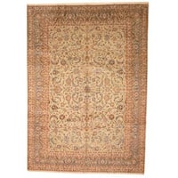 Herat Oriental Persian Hand-knotted 1960s Semi-antique Isfahan Wool Rug (10' x 13'11) - 10' x 13'11