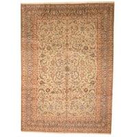 Handmade Herat Oriental Persian 1960s Semi-antique Isfahan Wool Rug  - 10' x 13'11 (Iran)