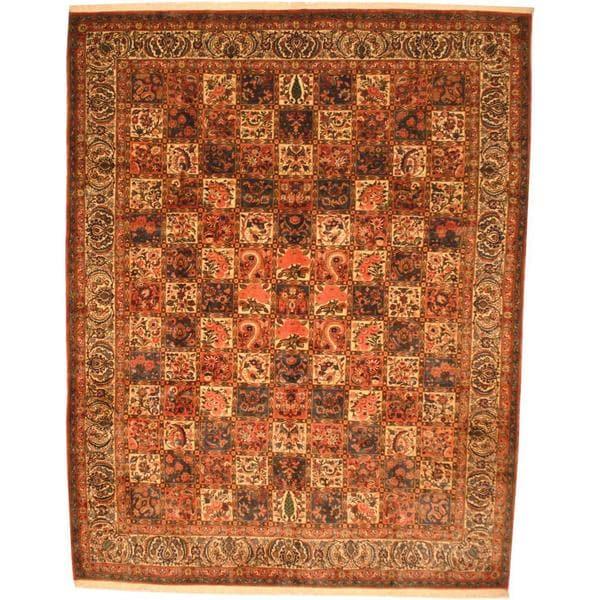 Herat Oriental Persian Hand-knotted 1970s Semi-antique Bakhtiari Wool Rug - 10'3 x 13'1