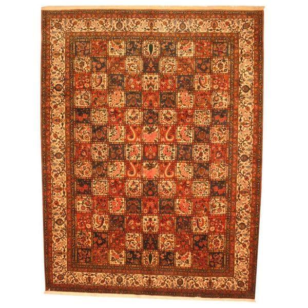 Herat Oriental Persian Hand-knotted 1970s Semi-antique Bakhtiari Wool Rug (10'6 x 13'8) - 10'6 x 13'8