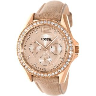 Fossil Women's Riley Rosegold Watch
