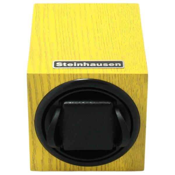 Steinhausen 12-mode Single Yellow Wood Grain Watch Winder