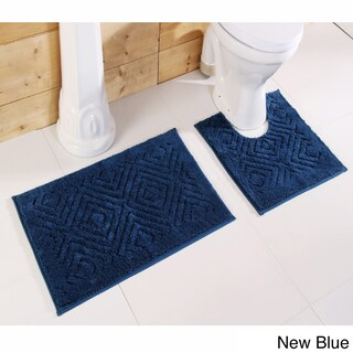 Trier Cotton Non-skid 2-piece Contour and Bath Rug Set by Better Trends (More options available)