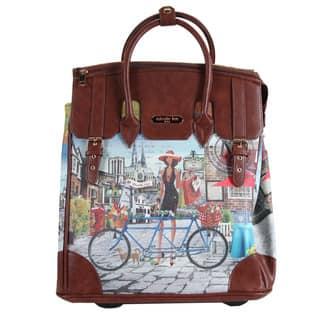 Nicole Lee Rolling Business Tote Special Bicylce Print Edition|https://ak1.ostkcdn.com/images/products/8886992/P16109631.jpg?impolicy=medium