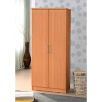 2-door Wardrobe with Mirror and Shelves