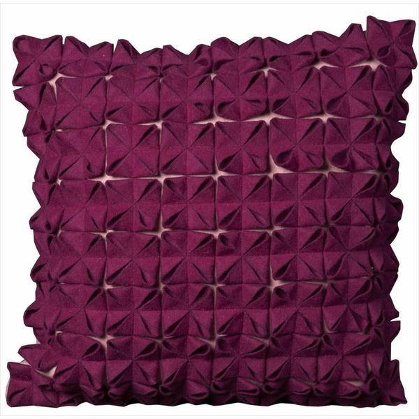Shop Mina Victory Purple Wool Felt 20 X 20 Throw Pillow