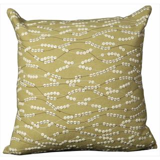 Mina Victory Green Buttons Throw Pillow