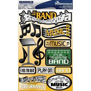 Signature Dimensional Stickers 4.5 X6  Sheet - Band