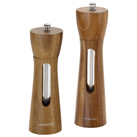 Rachael Ray Tools and Gadgets 2-piece Acacia Salt and Pepper Grinder Set