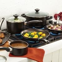 Farberware High Performance Nonstick Aluminum 17-piece Black Cookware Set with $10 Mail-in Rebate