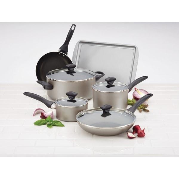 Farberware Champagne Nonstick 15-piece Cookware Set