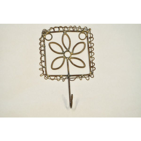 Handcrafted Metal Flower Hook (India)
