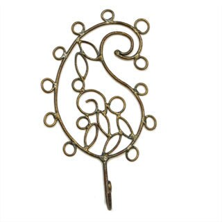 Handmade Wire Paisley Petal Hook (India)