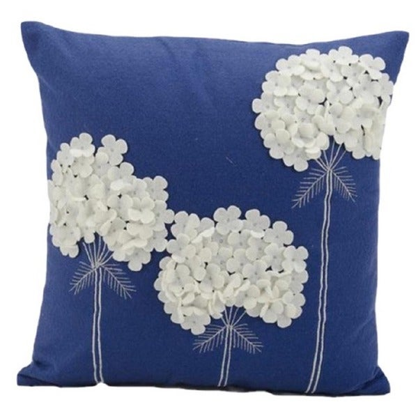 Shop Nourison Mina Victory 18 Inch Blue Felt Throw Pillow