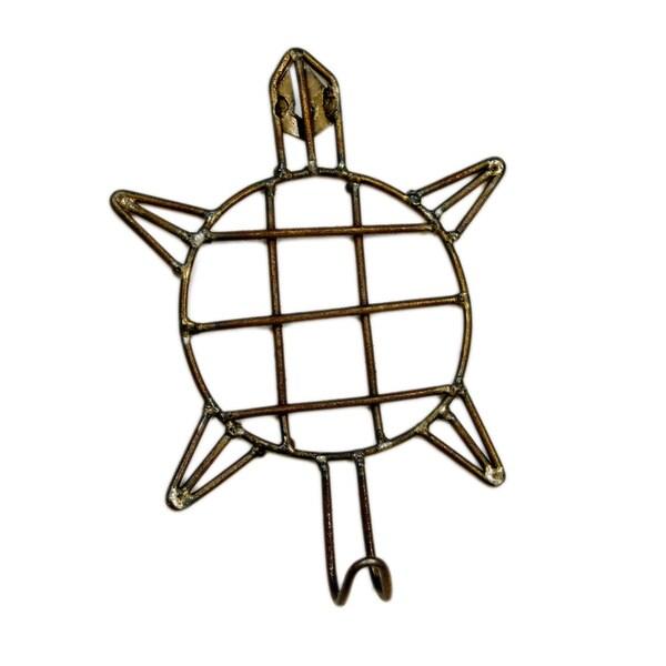 Handmade Metal Turtle Hook (India)
