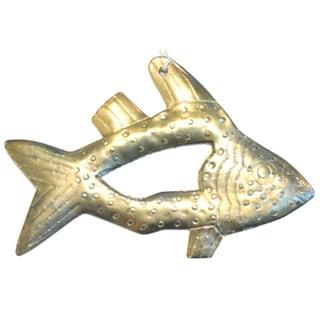 Handmade Metal Fish Ornament (India)