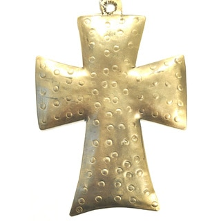 Handmade Chunky Metal Cross Ornament (India)