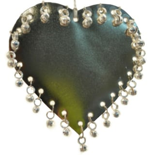 Handmade Metal Heart Ornament with Jingles (India)