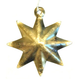 Handmade Small Star Ornament (India)