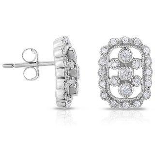 Eloquence 14k White Gold 1/3ct TDW Diamond Stud Earrings (H-I, I1)