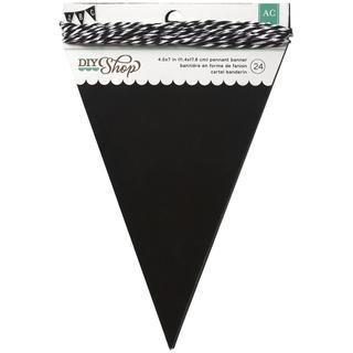 DIY Shop Banner 24pcs W/String - Chalkboard Pennant, 4.5 X7