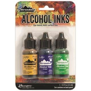 Adirondack Brights Alcohol Ink .5oz 3/Pkg - CONSERVATORY-HONEYCMB/BOTANICAL/POPPYFLD