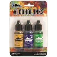 Adirondack Brights Alcohol Ink .5oz 3/Pkg - CONSERVATORY-HONEYCMB/BOTANICAL/POPPYFLD