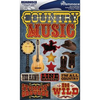 Signature Dimensional Stickers 4.5 X6  Sheet - Country Music