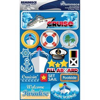 Signature Dimensional Stickers 4.5 X6  Sheet - Cruise