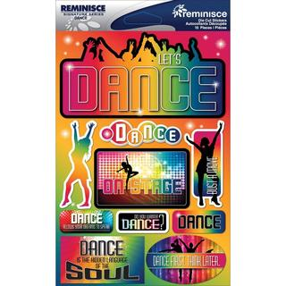 Signature Dimensional Stickers 4.5 X6  Sheet - Dance