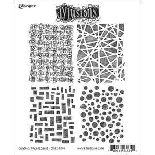 Dyan Reaveley's Dylusions Cling Stamp Collections 8.5 X7 - Graphic Backgrounds