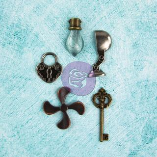 Junkyard Findings Metal Embellishments - Home Articles 5 Pieces