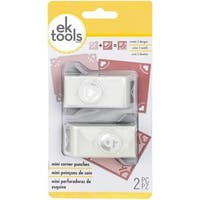 Mini Corner Rounder Punches 2/Pkg - King Of Hearts
