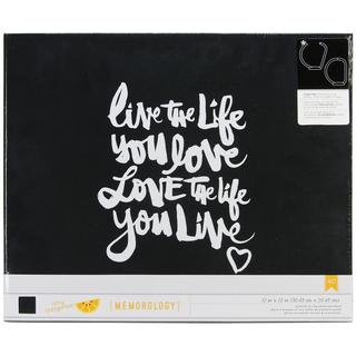 Amy Tan Plus One Screenprinted Cloth D-Ring Album 12 X12 - Live The Life You Love