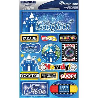 Signature Dimensional Stickers 4.5 X6 Sheet - Magical