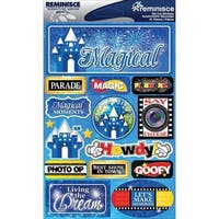 Signature Dimensional Stickers 4.5 X6  Sheet - Magical
