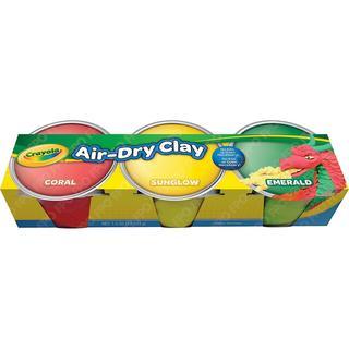 Crayola Air Dry Clay 3/Pkg - Pastel Colors