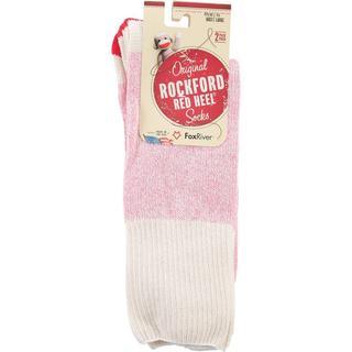 Red Heel Monkey Socks 2pr/Pkg - Size Large Pink