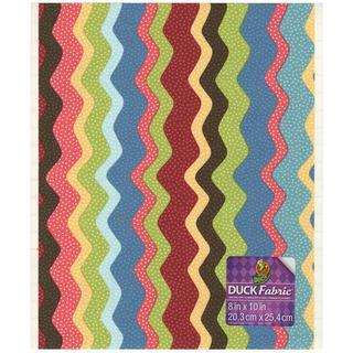 Fabric Sheet 8 X10  - Wavy Multistripe