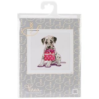 Puppy Went Shopping On Aida Counted Cross Stitch Kit - 12-1/4 X11-3/4 16 Count