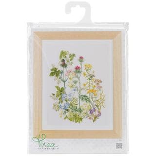 Herb Panel On Linen Counted Cross Stitch Kit - 13-3/4 X18-1/8 36 Count