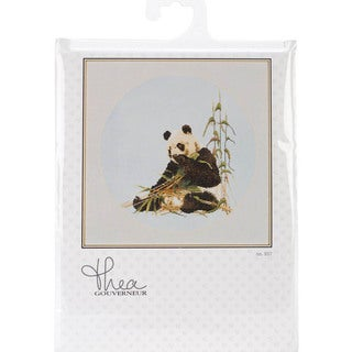 Panda On Jobelan Counted Cross Stitch Kit - 15-3/4 X17-3/4 27 Count