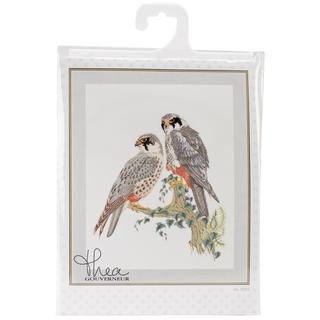 Falcons On Linen Counted Cross Stitch Kit - 18-7/8 X23-5/8 32 Count