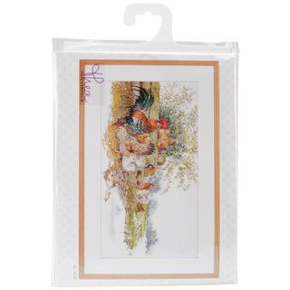 Chickens On Aida Counted Cross Stitch Kit - 26-3/4 X14-1/2  16 Count