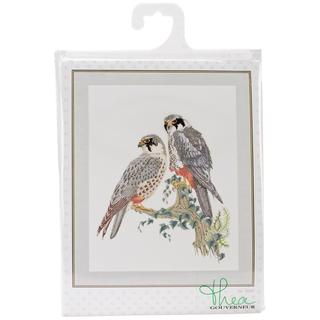 Falcons On Aida Counted Cross Stitch Kit - 18-7/8 X23-5/8 16 Count