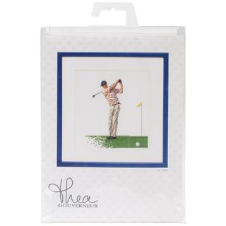Golf On Linen Counted Cross Stitch Kit - 6-1/4 X6-3/4 36 Count