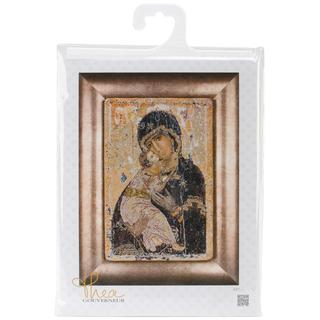 Our Lady Of Vladmir On Aida Counted Cross Stitch Kit - 8-3/4 X13 18 Count